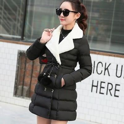 羽絨外套 中長款-韓版西裝領顯瘦百搭女夾克4色73it186【時尚巴黎】