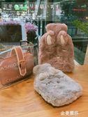 熱水袋注水防爆透明毛絨萌萌可愛大小灌水暖水袋可拆洗禮物暖手寶 金曼麗莎