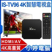 全新 IS-TV96 4K智慧電視盒HDMI/AV Miracast Airplay【免運+3期零利率】