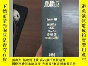 二手書博民逛書店CHEMICAL罕見ABSTRACTS Vol.114 FORMULA INDEX(C24-Z)INDEX OF