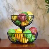 水果盤客廳雙層水果籃時尚創意果盆點心盆多層架歐式糖果盆收納架