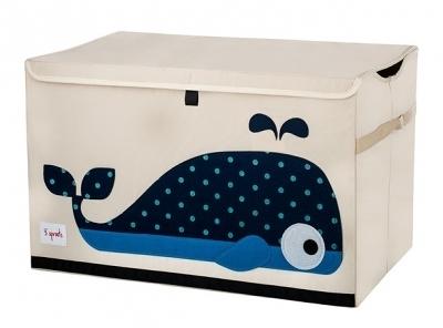 加拿大 3 Sprouts玩具收納箱-小鯨魚