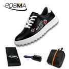 高爾夫球鞋 兒童運動鞋子 女童防水球鞋 塗鴉童鞋 GSH121BLK