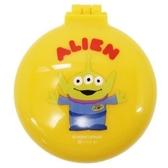 〔小禮堂〕迪士尼 三眼怪 圓形掀蓋氣墊隨身鏡梳組《黃.站姿》隨身鏡.隨身梳 4548387-19298