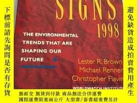 二手書博民逛書店Vital罕見Signs 1998: The Environme