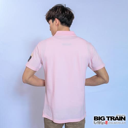 BIG TRAIN 武骨刺客POLO衫-男-粉紅