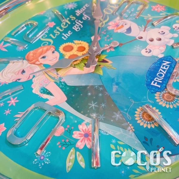 正版 迪士尼 冰雪奇緣 艾莎 安娜 雪寶 時鐘 掛鐘 壁鐘 鐘 台灣製 COCOS TG285