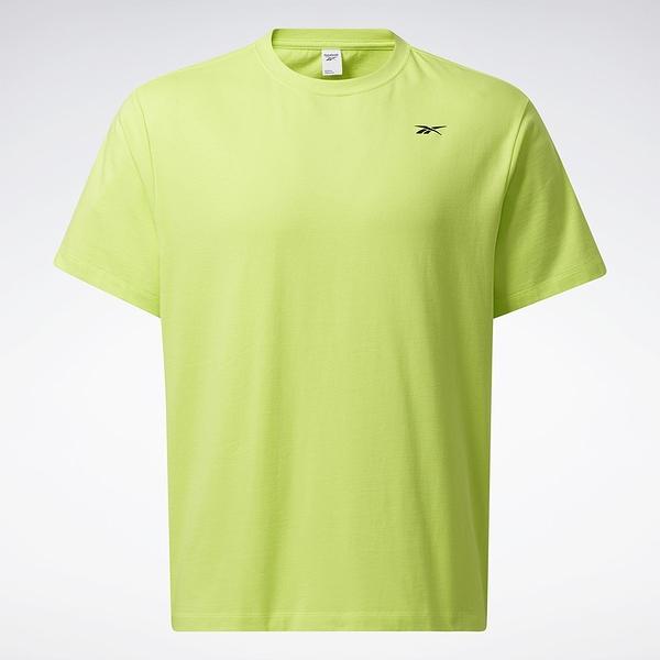 Reebok LIFUL MINIMAL GARMENTS 男裝 短袖 T恤 落肩 聯名 口袋 螢光黃【運動世界】GU3728