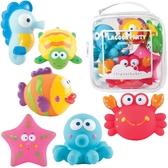【美國Elegant Baby】洗澡玩具6入組- 海洋嘉年華 40530