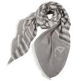 ARMANI COLLEZIONI條紋拼色絲薄圍巾(灰白色)102802