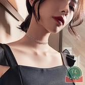 潮簡約氣質百搭頸鍊脖子飾品高級感項鍊女chocker鎖骨鍊【福喜行】