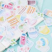 【BlueCat】少女的小確幸玫瑰盒裝貼紙 手帳貼紙 (46入)