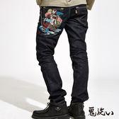 【秋季特推】爆裂鬼武士低腰直筒褲-鬼洗 BLUE WAY
