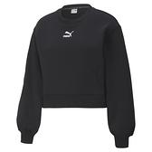 PUMA Classics 女款黑色長袖造型圓領衫-NO.53027701
