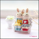 (限量)兔子情侶微景觀擺飾 桌面裝飾 景...