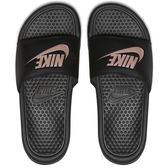 Nike Benassi JDI 女 黑 拖鞋 運動拖鞋 休閒 籃球員 運動 舒適 海綿襯墊 343881007