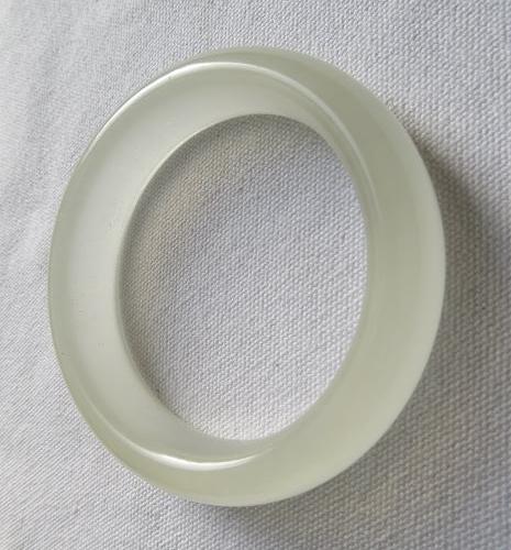 天然冰種白玉手鐲#0196  56mm