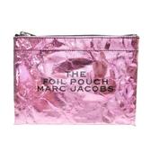MARC JACOBS 粉色皺摺造型收納化妝包 【二手名牌 BRAND OFF】