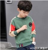 男童兒童衛衣春秋裝長袖t恤新款大童小男孩體恤打底衫上衣潮 莫妮卡小屋