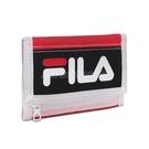 Fila 短夾 Wallet 紅 黑 白 男女款 三摺運動皮夾 零錢袋 Wallet PWT9012RD