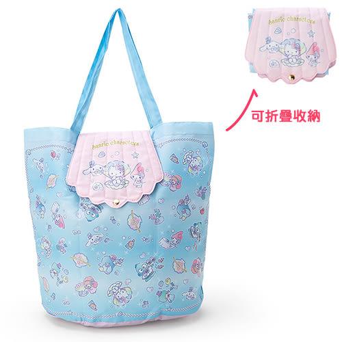 《Sanrio》三麗鷗明星海底派對系列可折式防潑水提袋_347175