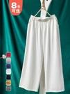 棉麻寬管褲女春夏季新款寬鬆大碼七分瑜伽禪意休閒亞麻直筒九分褲 果果輕時尚