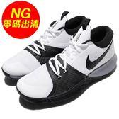 【US9-NG出清】Nike 籃球鞋 Zoom Assersion EP 左腳鞋舌發黃 黑 白 男鞋 運動鞋【PUMP306】