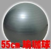 [衣林時尚] 55cm GYM BALL 瑜珈球 (銀色) 附打氣筒 (表面字樣已去除 略有痕跡 請留意)