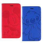 【Disney 】Xiaomi 紅米 Note 2 時尚角色壓紋側掀可立式皮套