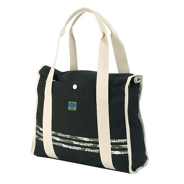 ELLE 愛心帆布系列牛奶屋側背包(黑色) S5564060BK
