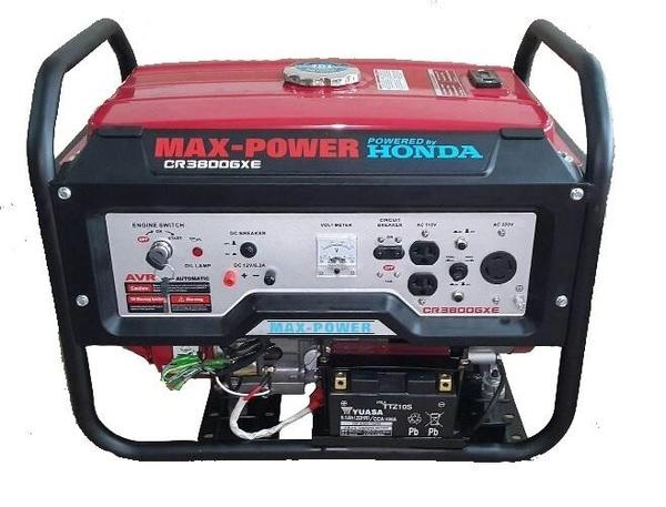 [ 家事達] MAX POWER-CR3800GXE 本田引擎 電動發電機-3800w 特價