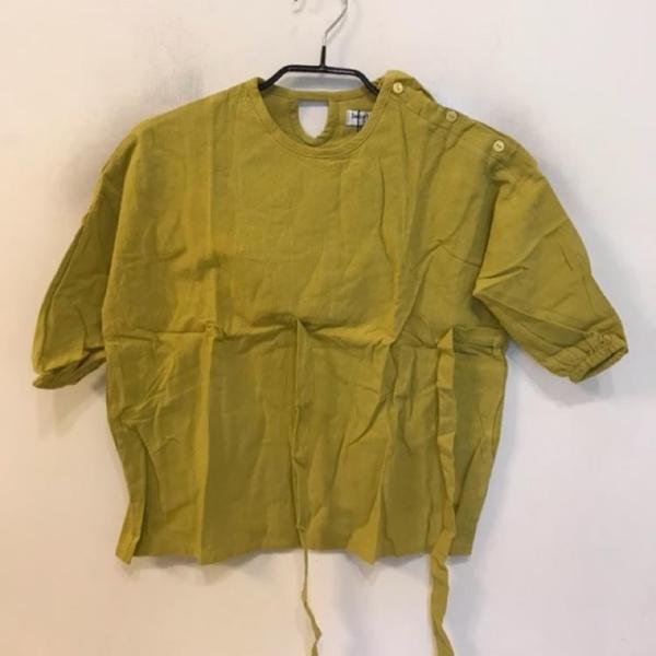 女童韓版休閒蝴蝶結短袖上衣(90-110碼/555-469)