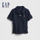 Gap男幼童 活力小熊刺繡運動POLO衫 664139-藏青色