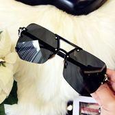 太陽眼鏡 無框灰墨鏡太陽眼鏡男士 台北日光