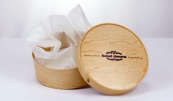 16CM  質感木紋 乳酪盒 包裝紙盒 CI0606