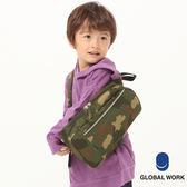 GLOBAL WORK童素色迷彩長方形拉鍊單肩背包-二色