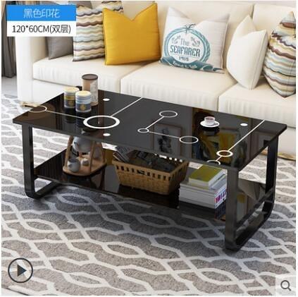 茶几簡約現代客廳邊幾方形茶几桌簡易茶几雙層木質茶几小戶型桌子【120*60雙層】