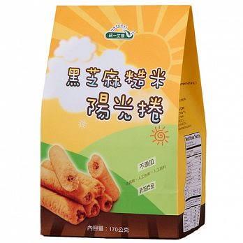 統一生機~黑芝麻糙米陽光捲170公克/包(奶蛋素) ~即日起特惠至10月31日數量有限售完為止