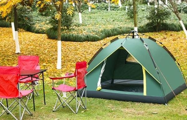 全自動戶外帳篷加厚雙人野外露營速開