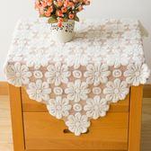 簡約鏤空加厚歐式蕾絲臺布茶幾蓋布餐桌布床頭柜蓋布