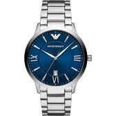 Emporio Armani 亞曼尼紳士手錶-藍x銀/43mm AR11227