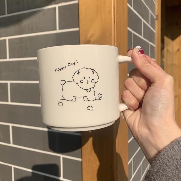 馬克杯 泰迪狗狗馬克杯水杯陶瓷杯可愛牛奶杯早餐杯 一件82折