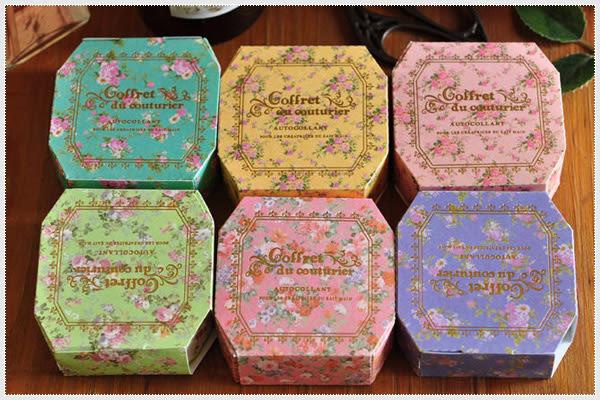 復古彩色田園裝飾膠帶(創意花邊貼紙)-製作卡片.DIY.創意 包裝.zakka雜貨.幸福朵朵婚禮小物