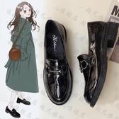 娃娃鞋 ins小皮鞋女復古春季英倫風一腳蹬平底新款日系學院風jk單鞋-快速出貨