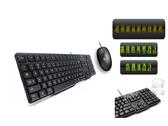 【限時3期零利率】羅技 MK100 有線鍵盤滑鼠組/1,000 dpi 光學式滑鼠 / 防撥水設計