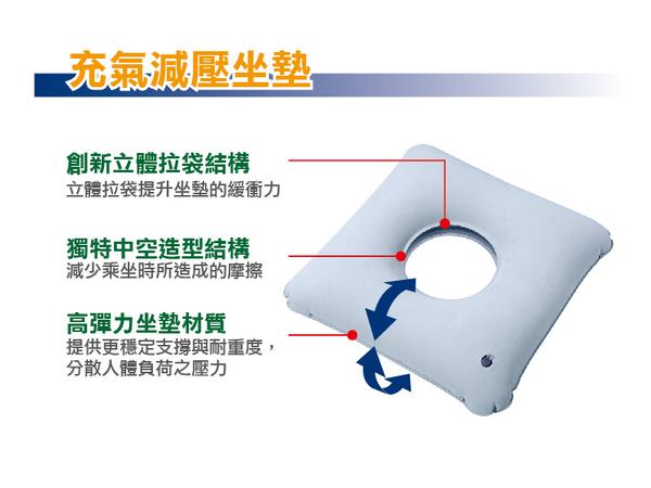 REXICARE 充氣中空減壓坐墊-方形