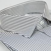 【金‧安德森】黑白條紋窄版長袖襯衫