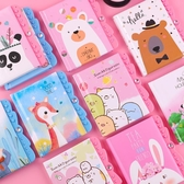 兒童密碼本小學生獎品創意實用可愛便捷筆記本帶鎖本子日記本六一 滿天星