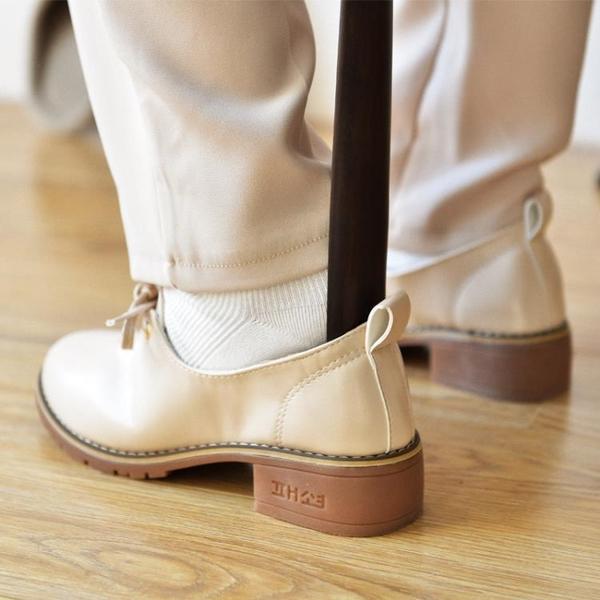 鞋拔 櫸木實木質鞋拔子超長加長把長柄鞋拔提鞋器穿鞋器鞋把子鞋抽『快速出貨』
