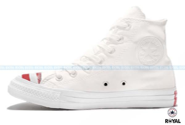 CONVERSE 新竹皇家 Chuck Taylor All Star 白色 英國國旗印花 帆布 休閒鞋 高筒 男款 NO.A7955